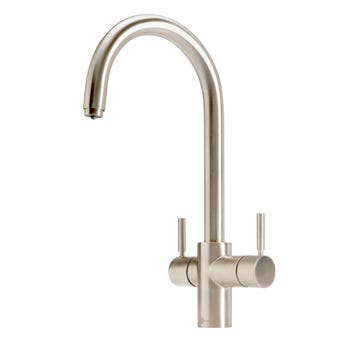InSinkErator 3003JBR J-Shape 3N1 Multi Brushed Nickel Tap