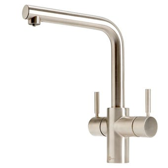 InSinkErator 3003LBR L-Shape 3N1 Brushed Nickel Multi Tap