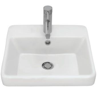 Caroma 866015W Carboni 41.5cm Inset Basin