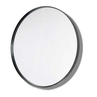 Innova BLMR60BK Black Round Shape Metal Frame Mirror