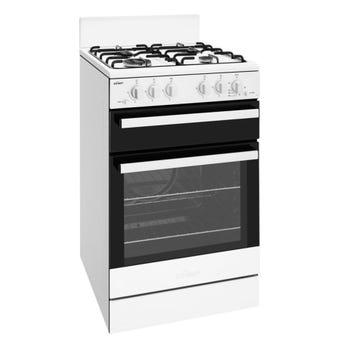 Chef CFG503WBLP 54cm White LP Gas Freestanding Oven