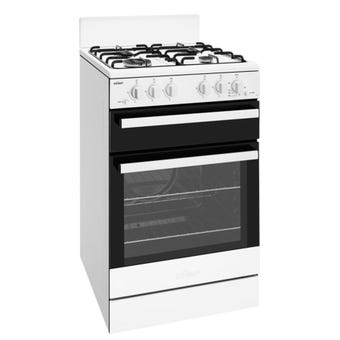 Chef CFG503WBNG 80L White Gas Freestanding Oven