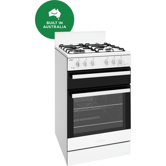 Chef CFG503WBNG 54cm White Gas Freestanding Oven