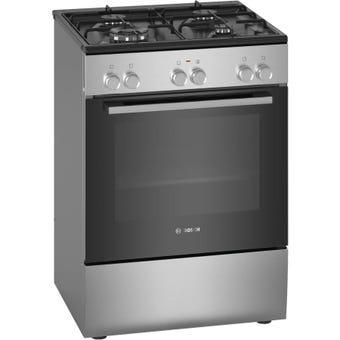 Bosch HXU09AH50A 60cm Stainless Steel Dual Fuel Freestanding Cooker