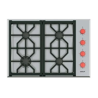 Wolf ICBCG304PS 76cm Professional Gas Cooktop