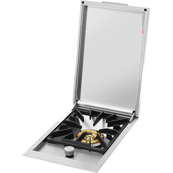 Beefeater BSW318SA angled view - exposed burner