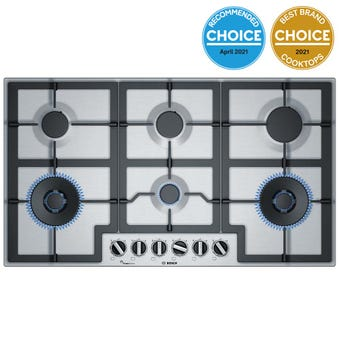 Bosch PCT9A5B90A 90cm Stainless Steel Gas Cooktop
