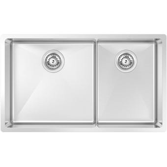Abey SAL420D Salerno Stainless Steel 1 & 1/3 Bowl Sink