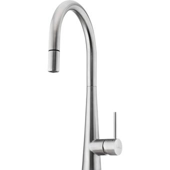 Oliveri SS2525 Essente Stainless Steel Gooseneck Pull Out Mixer Tap