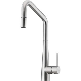 Oliveri SS2575 Essente Stainless Steel Gooseneck Pull Out Mixer Tap
