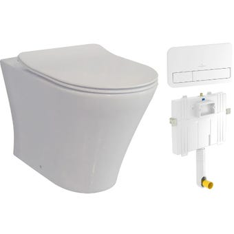 Villeroy & Boch ON20WFSLIMVB92249068 Wall Faced Toilet Suite