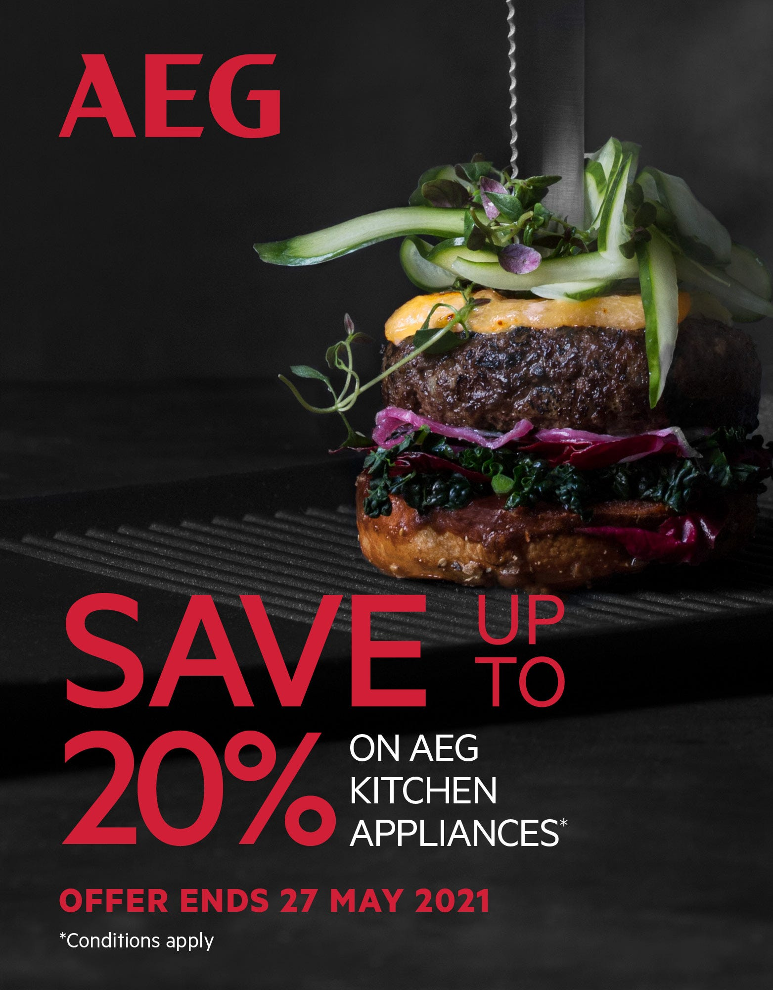 Save up to 20% on AEG Kitchen appliances with e&s. Conditions apply - ENDS 27/05/21