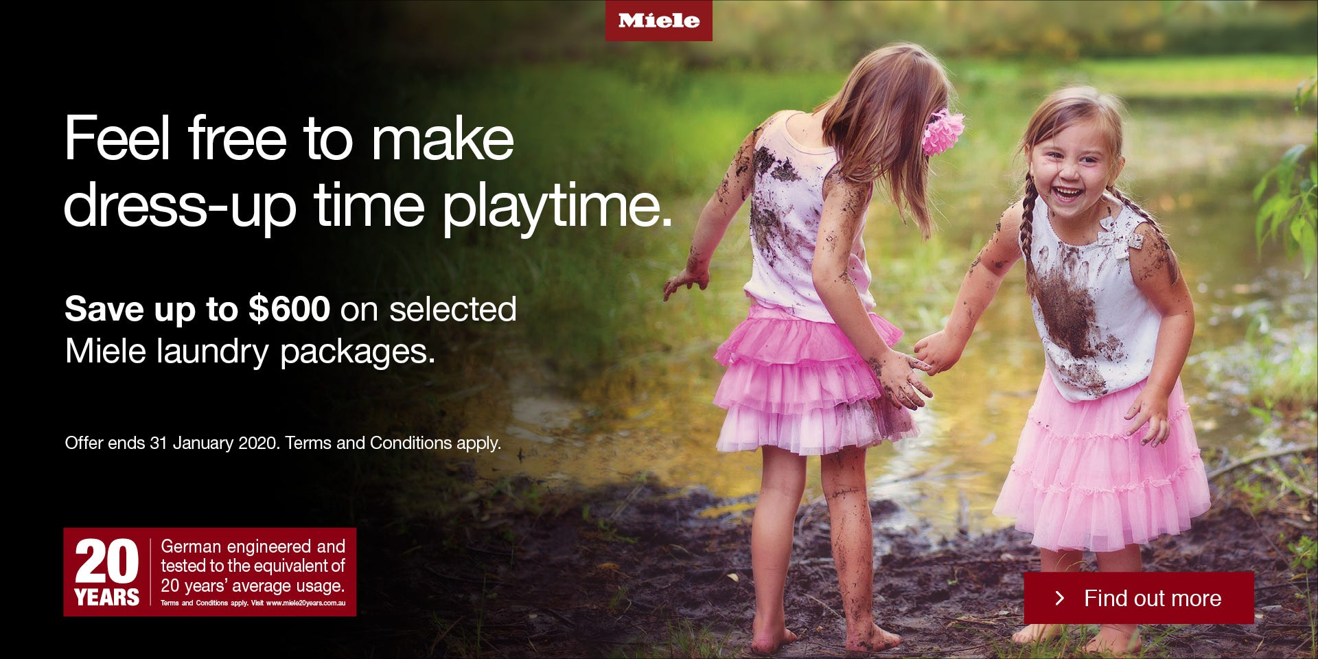 Save up to $600 on selected Miele Laundry Packages. Conditions apply - ENDS 31/01/20